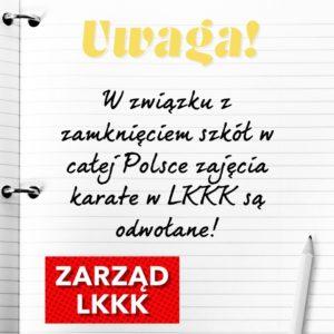 Zajęcia karate w naszym Klubie są zawieszone do odwołania