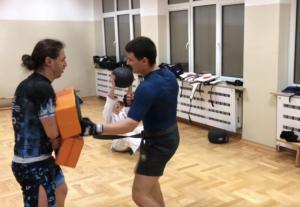 Trening zawodników