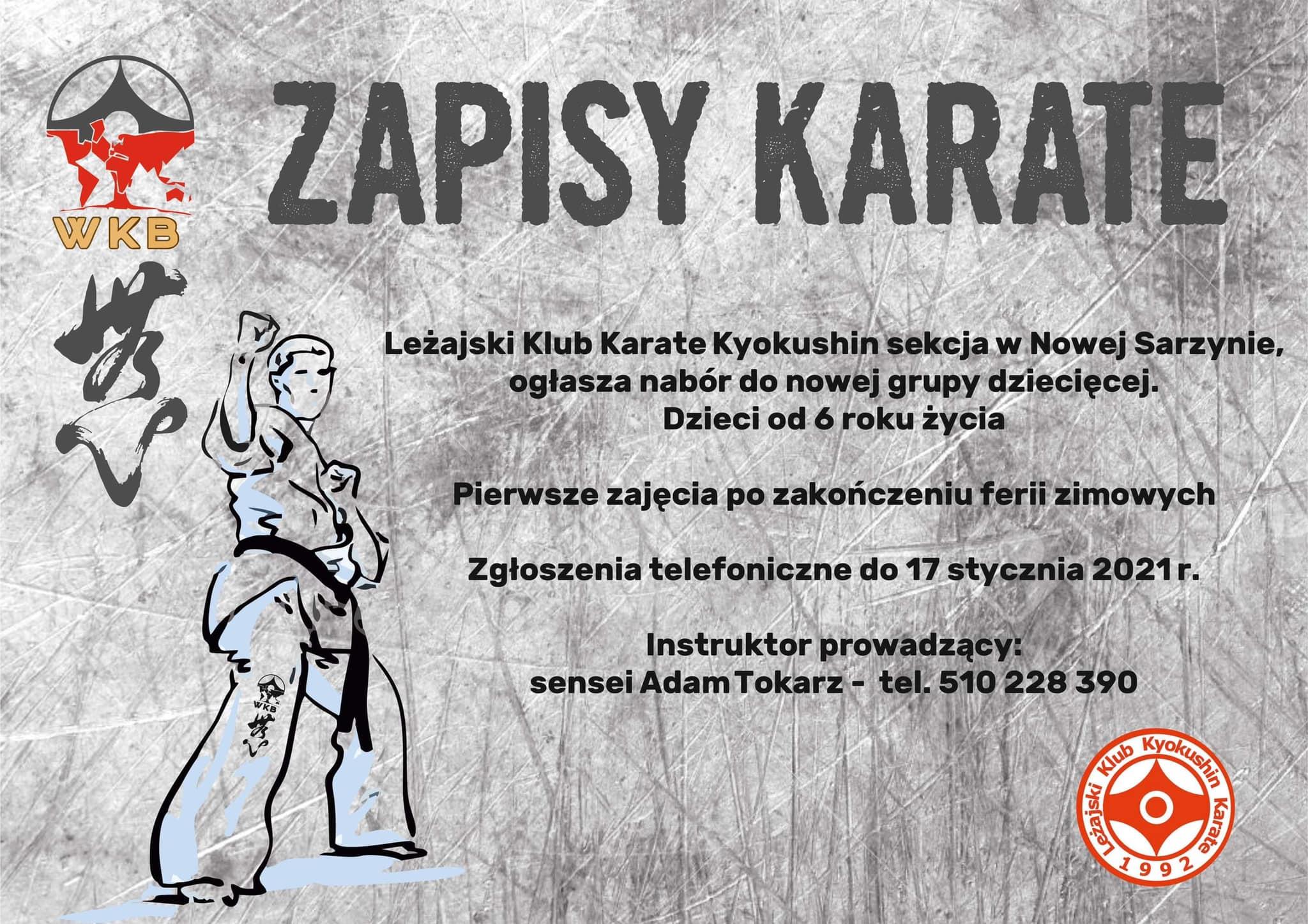 Otwieramy nową sekcję karate