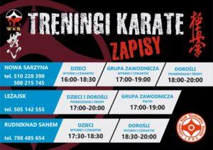Read more about the article Zapraszamy na treningi karate